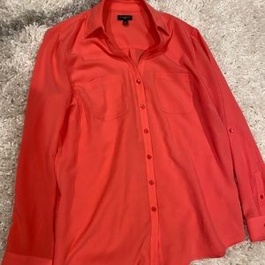 Silky Talbots Coral Blouse - Petite M